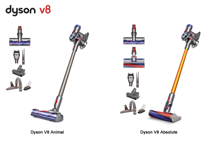 Dyson V8 Animal and V8 Absolute Comparison